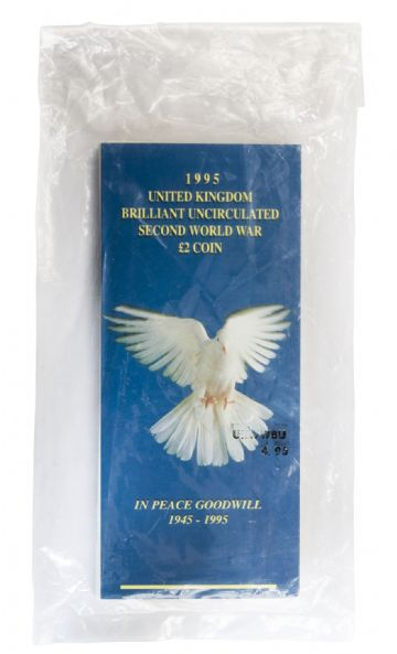 1995 £2 Dove Of Peace Brilliant Uncirculated pack